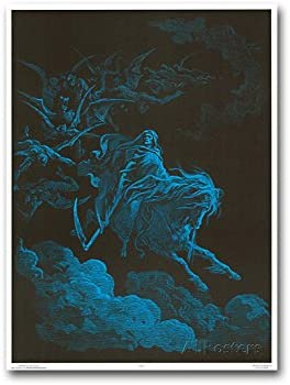 """Death Rides a Pale Horse Non-Flocked Laminated Blacklight Poster 36.5/"""" x 24.5/"""""""