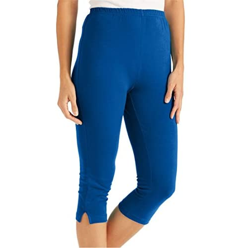 Women's Plus Size Petite Leggings, Capris In Stretch Knit 30%OFF ...
