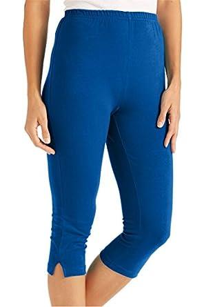 Women's Plus Size Petite Leggings, Capris In Stretch Knit 30%OFF ...