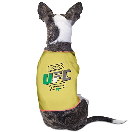 (UFC Irish Colors Yellow Puppy Clothes Breathable Dog Dress)