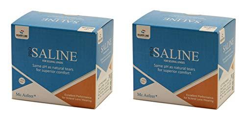 Silver Line Laboratories Pro Saline Max for Scleral Lenses, 80ml – 2 Bottles (Pack of 2)