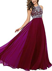 Dressytailor Women's Gorgeous A-line Floor Length Beaded Prom Dress Formal Evening Party Gown