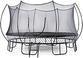 Superb Sports Springless Outdoor Trampoline - No Springs Round Trampoline for Kids and Adults with Enclosure Net and...
