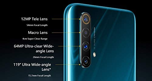 Original Realme X50 5G 12G+256GB MobilePhone Android 10 Global ROM 6.57 inch 120Hz Snapdragon 765G 5G Octa Core SuperVOOC 64MP NFC 4200mAh Support Google-by (CTM Global Store) (Blue)