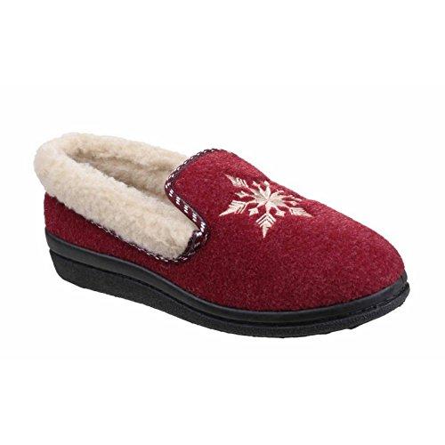 Mirak Womens/Ladies Snowflake Slippers Red pp02S
