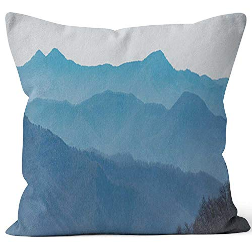 Nine City Blue Ridge Parkway Throw Pillow Cover,HD Printing for Sofa Couch Car Bedroom Living Room D¨¦cor,40