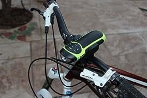 Tommyca - Radio para bicicleta con enganche (MP3, memoria de 32 GB, linterna)