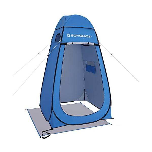41m5MsHZNUL SONGMICS Pop-Up-Zelt, Toilettenzelt, Umkleiderzelt, für Outdoor, Camping, Angeln, Strand, Dusche, Toilette, Tragetasche…