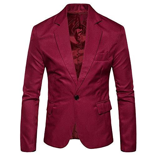 Slim Cappotto Casual Stile Uomo Blazer Lanceyy Sposa Premium Elegante Button Semplice Prom Rot Da Single Jacket Fit Abito qtxwUX