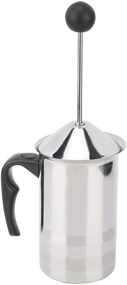 manuelles Schaumherstellungs-Saucen-Aufsch/äumwerkzeug mit Feder f/ür Latte-Cappuccino-Kaffee Aigend Milchaufsch/äumer 600 ml Edelstahl-Milchaufsch/äumer
