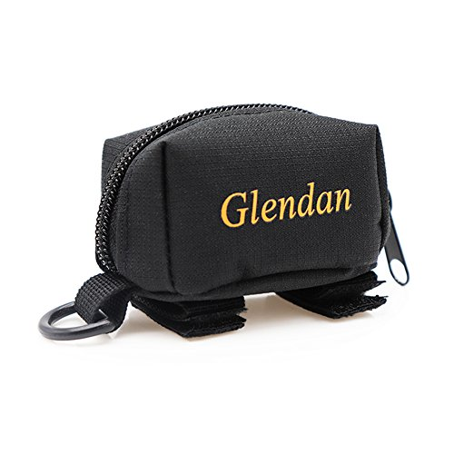 Glendan Dog Poop Bag Holder Leash Attachment,Waste Bag Dispenser - Fits Any Dogs Lead - Includes Free 1 Roll of Dog Bags (Rectangle)
