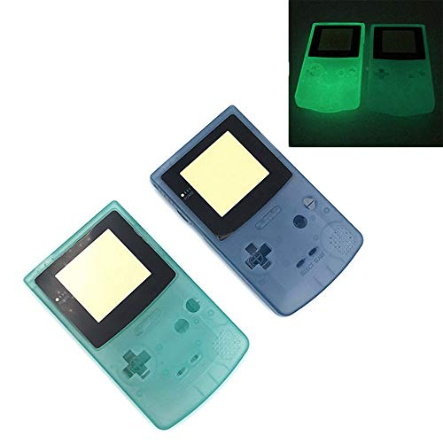 Full Housing Case Cover Housing Shell Replacement for Game boy Color GBC Shell Case with Buttons Kit (Luminous Green)