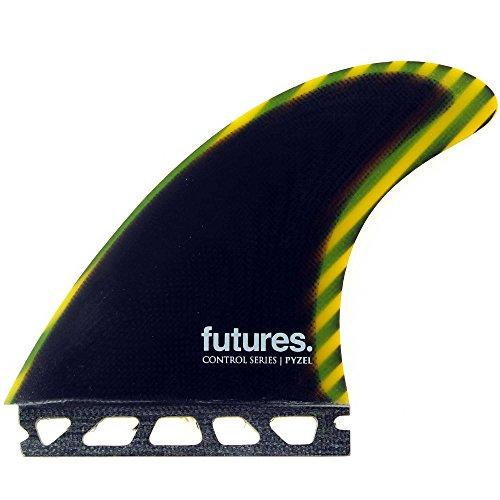 New Futures Surf Pyzel Carbon Fiberglass Tri Fin Set Glass (Carbon Fiber Fin Set)