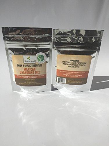 De Casa - Casa de Sante Low FODMAP Spice Mix (Mexican/Taco Seasoning Mix)- No Onion No Garlic FODMAP Friendly Certified Artisan Onion and Garlic Substitute Seasonings, Paleo
