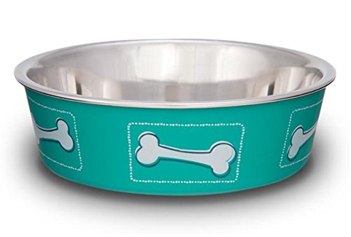 Dog Bowl Bella Bowl (Loving Pets Coastal Bella Bowl for Dogs, Small, Aqua Sea)