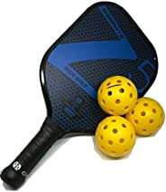 Onix Graphite Z5 Pickleball Paddle & 3-Pack Fuse G2 Pickleball Balls Bundle - Premium Pickle Ball Equipmen