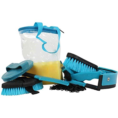Roma 9 Piece Cylinder Grooming Kit (One Size) (Teal) -