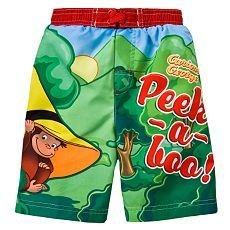 3ead987bc1 Image Unavailable. Image not available for. Colour: Curious George Boys Swim  Trunks ...