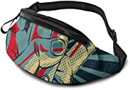 Belt Bag Starlight Castle Printed Casual Waist Bag Fanny Pack For Outdoor Sports Fitness Hands Free Wallet Cas