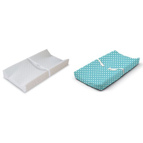 Summer Infant Contoured Changing Pad White with Changing Pad Cover Days Blue