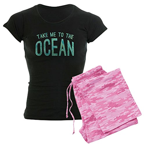 CafePress Take Me to The Ocean Print Womens Novelty Cotton Pajama Set, Comfortable PJ Sleepwear -