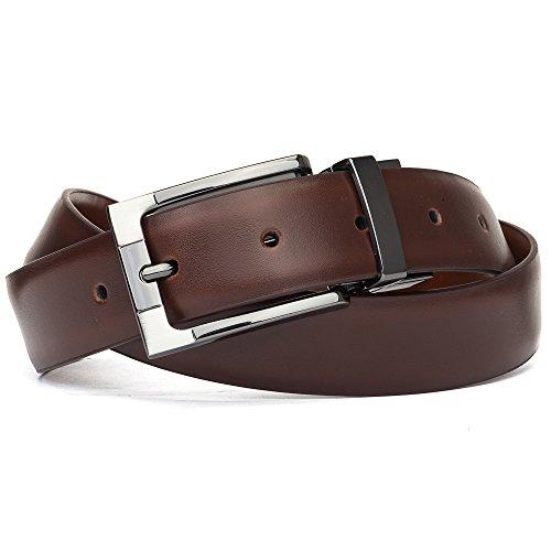"""Tanpie Reversible Belt for Men Dress Belt Leather 1 1/8"""" Wide Rotated Buckle Brown/Tan XL by Tanpie (Image #7)"""