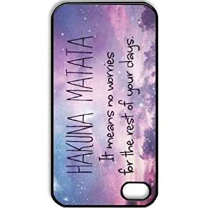 Hakuna Matata Hard Plastic Case Back Cover for Apple iPhone 5 5G 5S Skin Protector Accessories