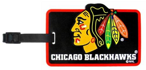 aminco NHL Chicago Blackhawks Soft Bag Tag (Nhl Luggage Bag Tag)