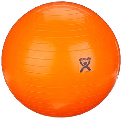 """Rolyan Energizing Exercising Balls, Orange 21 1/2"""", Vinyl Therapy Ball for Physical and Occupational Therapy, Fitness Ball for at-Home Work Outs, Yoga, Balance, Pilates, and Core Training Activities"""