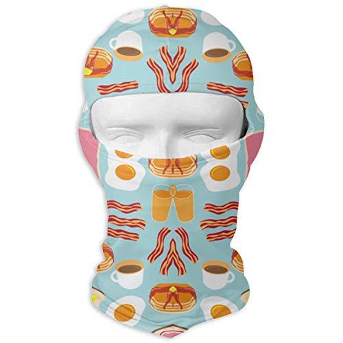 LaoJi Long Breakfast Fun Wallpaper Winter Ski Mask Balaclava Hood - Wind-Resistant Face Mask