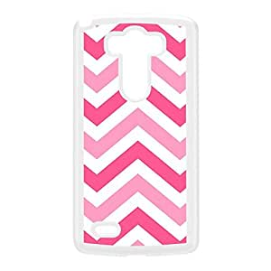 Pink Shades Chevron Pattern White Hard Plastic Case for LG G3 by UltraCases + FREE Crystal Clear Screen Protector