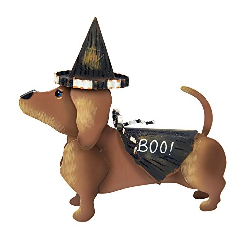 The Round Top Collection Dress-Up Dachshund Witch Outfit - Metal]()