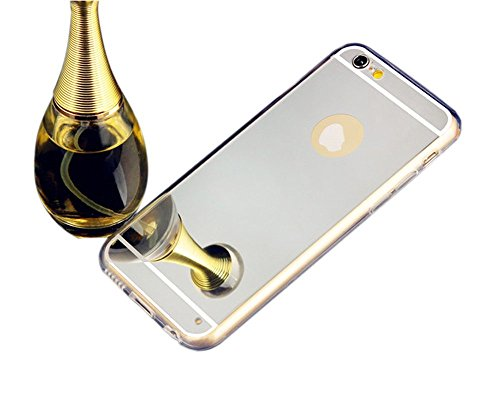 iPhone 6 case,Top Selling (TM) Handmade Beauty Luxury Bling Diamond Mirror Soft TPU Silicone Gel Fitted Skin Case Back Cover for Apple iPhone 6 (Sliver)