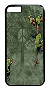 Case Cover For SamSung Galaxy S6 Peace Tree Frog PC Hard hUIwyEGvfmm Plastic Case Cover For SamSung Galaxy S6 Black