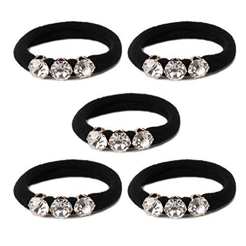 Kimnny Hair Rope, 5 Pieces 3 Big Diamonds Hair Accessories Women Headband Girls Elastic Hair Bands Hair Ornaments for Kids
