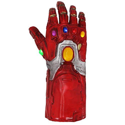 Gauntlet Man Gloves LED Light Latex Gloves Halloween Props Red