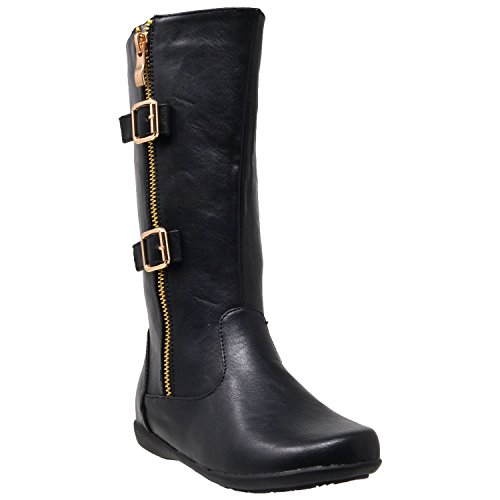 Leather 4 Buckle Boots - 7