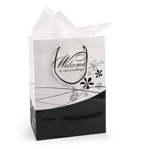 Fun Express Medium Welcome To Our Wedding Gift Bags (1 Dozen)