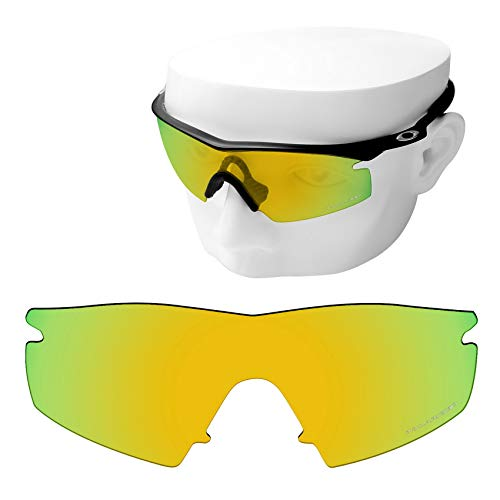 OOWLIT Replacement Lenses Compatible with Oakley M Frame Strike Sunglass 24K Polycarbonate Combine8 Polarized