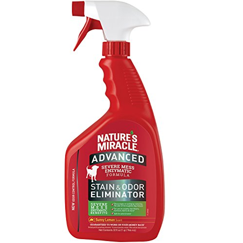 (Nature's Miracle Advanced Stain and Odor Eliminator Dog, For Severe Dog Messes, Sunny Lemon Scent - P-96987)