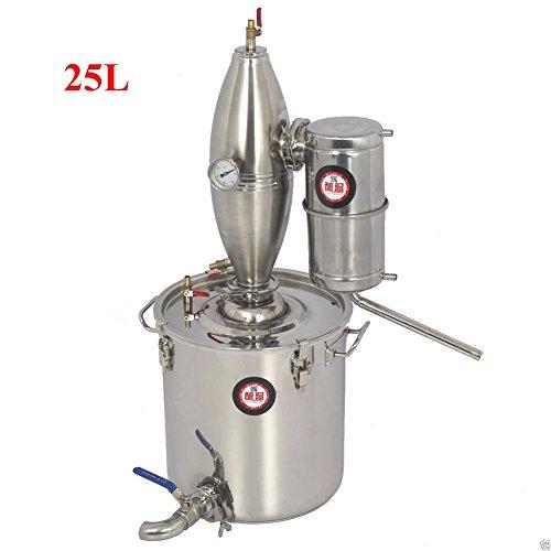 25L 6.6Gal 304 Stainless Steel Alcohol Distiller Home Brew Kit Monnshine Wine Making Boiler by Niangge (Image #5)