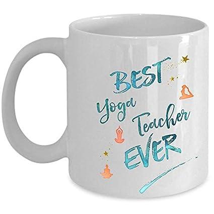 Amazon.com: Funny Yoga Gifts Best Yoga Teacher Ever Meditate ...