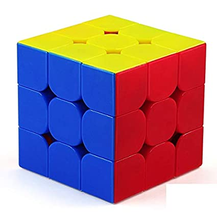 Premsons Cube 3X3X3 - Multi Colour , Stickerless 3D Cube Puzzle Game - Colours May Vary