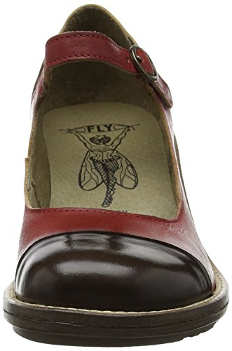 Fly London P143877003, Zapatos Mary Jane Mujer Rojo (Red/Brown 003)