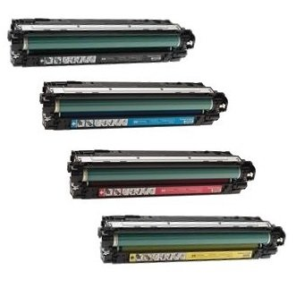CE740A, CE741A, CE742A, CE743A Compatible Color Toner Set for HP Color LaserJet CP5220, CP5225, CP5225dn, CP5225n printers
