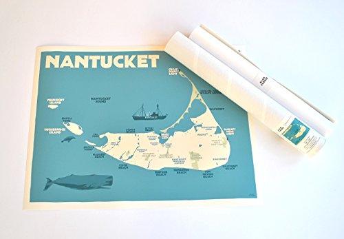 nantucket map poster