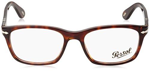 Tortoise Motif de Tâcheté Pour 52mm Striped Homme Beige Persol 3012 Grey lunettes Brun Montures SOn57gW8