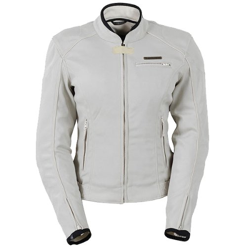 Fieldsheer Corsair 2.0 Women's Textile Street Bike Racing Motorcycle Jacket - Cream / Large - Fieldsheer Street Bike