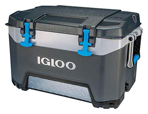 Igloo 00049783 BMX 52 Quart Cooler - Carbonite Gray/Carbonite Blue, 26.6 x 16.9 x 16.9