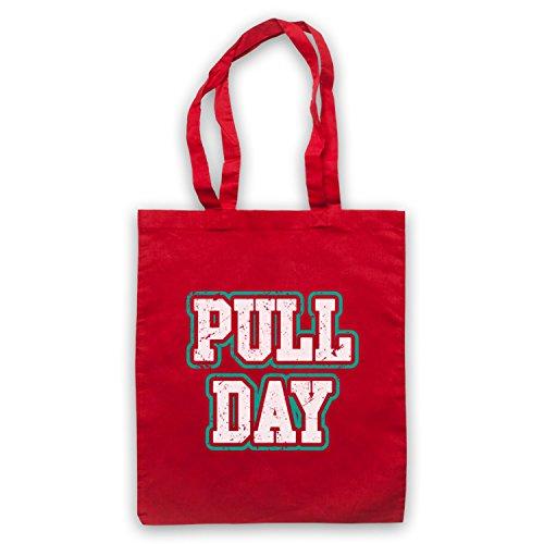My Icon Art & Clothing Pull Day Bodybuilding Workout Slogan Bolso Rojo